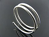 Double Coil Sterling Silver Bracelet