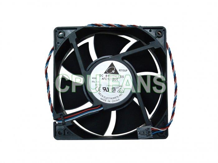 Dell Dimension E521 CPU Case Cooling Fan H7058 Y4574 U6368 120x38mm 5-pin/4-wire plug