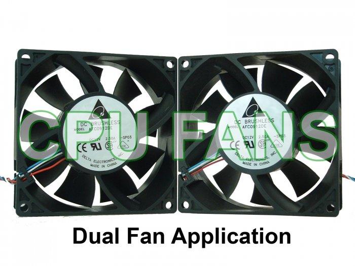 Dell XPS 600 XPS600 Fans Gen 5 G5 J9705 XF731 Dual CPU Case Fans 92x38mm  5-pin/4-wire
