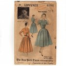 ADVANCE 6190 Sewing Pattern 1950s Adele Simpson Original Design NY Times Designer Series  Bust 30