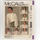 McCall's 8135 Sewing Pattern Misses Buttoned Blouse with 7 Different Collars 1980s Bust 32.5