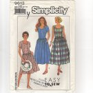 Simplicity 9613 Misses Petite Dress or Jumper in two lengths 1990s Bust 30.5 31.5 31.5 34 36