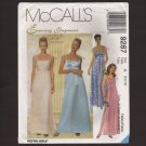 McCall's 9287 Sewing Pattern Misses Evening Elegance Dress and Scarf Bust 31.5 32.5 34 1990s