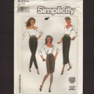 Simplicity 8362 Slim Fitting Wiggle skirt in 2 lengths and pants Misses 14 1980s Waist 28
