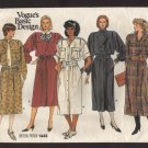 Vogue 1443 Sewing Pattern Misses Mid-Calf Shirt Dress Retro 1980s  Size 8 Bust 31.5