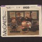 McCall's 8133 Hugachum Dolls Stuffed Cowboy Cowgirl Farmer Boy and Girl Sewing Pattern