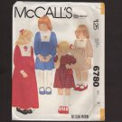 McCall's 6780 Child's Front Yoke Dress two lengths back zipper Sewing Pattern Size 6 1970s