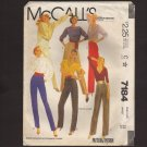 McCall's 7184 Misses Pants three leg widths Sewing Pattern Size 22 Waist 37 1980s