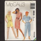 McCall's 3605 Misses Dress or Jumpsuit Sewing Pattern shorts capri's Size 12 Bust 34 1980s
