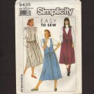 Simplicity 9435 Misses Jumpers Sewing Pattern 16-22 Easy To Sew Bust 38 40 42 44 1980s
