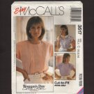 McCall's 3517 Collection of Misses Blouses Sewing Pattern Size 10 12 14 Bust 32.5 34 36 1980s