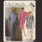 McCall's 3198 Misses Shirt, Skirt and Tapered Pants Sewing Pattern Sz 20 22 24 Bust 42 44 46 1980s