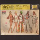 McCall's 2283 Midriff Top Hip Hugger Pants and Shorts Sash Tunic Top Sewing Pattern Bust 34 1970s
