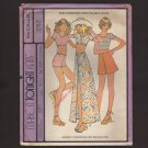 McCall's 3262 Misses Stretch Knit Tops Shorts Skirts Make It Tonight Sewing Pattern Bust 34 1970s