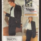 Vogue 2034 Tamotsu Career Jacket Pants Skirt Sewing Pattern Misses 8 10 12 Bust 31.5 32.5 34 1980s