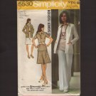 1970s Designer Fashion Skirt Top Pants Cardigan Simplicity 5530 Misses 12 Sewing Pattern Bust 34