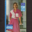 Misses Shirt and Culottes Shorts Butterick 6768 Sewing Pattern Sz 12 14 16 Bust 34 36 38 1990s