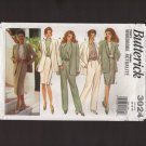 Misses Wardrobe Jacket Top Skirt Pants Butterick 3024 Sewing Pattern Size 12-16 Bust 34 36 38 1980s