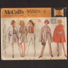 Vintage Misses Separates Cape, Pants, Vest and Culottes McCall's 9550 Size 12 Bust 34 1960s