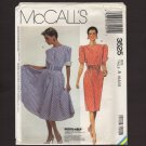 McCall's 3525 Misses Dress and Belt Sewing Pattern Size 6, 8, 10 Bust 30.5 31.5 32.5 1980s