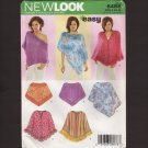 Misses Poncho OverTop New Look 6488 Sewing Pattern Size XS-XL 6-24 Bust 30.5 32.5 36 40 44 46 2000s