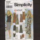 Simplicity 5956 Misses Halter or Drape Dress Top & Skirt 4-10 Pattern Bust 29.5 30.5 31.5 32.5 2000s