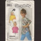 Simplicity 8141 Girl's Pull-over Knit Tops Sewing Pattern Child Size 5 - 6X Chest 24 25 25.5 1980s