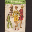 Vintage Misses' Dress or Tunic and Pants Simplicity 8585 Sewing Pattern Size 12 Bust 34 1960s