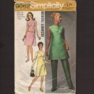 Vintage Misses Dress or Tunic and Pants Simplicity 9062 Sewing Pattern Sz 12 Bust 34  1970s
