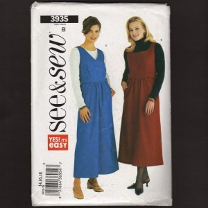 Butterick 3935 Misses Jumper Sewing Pattern See & Sew Sz 14 - 18 Bust 36 38 40 2000s