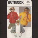 Retro 1980s Unlined Zip Front Jacket Sewing Pattern Butterick 3598 Size 14 - 18 Bust 36 38 40