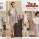 Vogue 1601 Misses Jacket Dress Top Shorts Pants Tamotsu Pattern sz 6-10 Bust 30.5 31.5 32.5 1990s