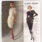 Vogue 2492 American Designer Albert Nipon Misses Dress and Top Pattern Sz 12-16 Bust 34 36 38 1990s