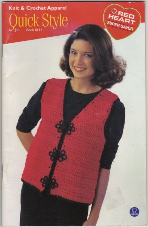 Knit & Crochet Apparel Quick Style Coats & Clark Red Heart  0111 vest sweaters jacket