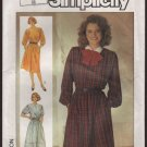 Simplicity 6985 Misses Pullover Dress Sewing Pattern elasticized waist Size 8 Bust 31.5 1980s