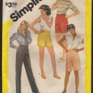 Simplicity 6253 Half Size Pull On Pants and Shorts Sewing Pattern Size 16.5 - 20.5  1980s