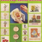 Teach Yourself Counted Cross Stitch Leisure Arts Leaflet 52 Patterns for 20 Projects
