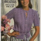 Cotton Up To Sweaters Coats & Clark Book No. 300 Crochet and Knitting Patterns Misses Sweaters