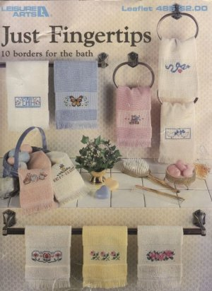Just Fingertips 10 Borders for the Bath Cross Stitch Leisure Arts Leaflet 485
