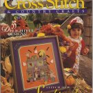 Cross Stitch & Country Crafts Magazine Sept/Oct 1993 Haunted House, Botanical Fruit, Christmas Mice