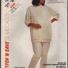 Misses Stretch Knit Top and Pants McCall's Stitch 'n Save 3406 Bust 32.5, 34, 36 Size 10 12 14 1980s