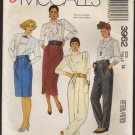 McCall's 3962 Misses Straight Skirts and Pants Sewing Pattern Waist 28 Size 14 1980s