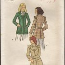 Vintage 1970s Misses Fitted Jacket Butterick 6862 Sewing Pattern Bust 36 1970s