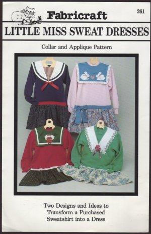 Little Miss Sweat Dresses Transform a Sweatshirt into a Dress - Fabricraft 261 Girls XS - Med 1990s