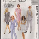McCall's 8187 Misses Lined Jacket, Skirt and Pants Sewing Pattern Size 16-20 Bust 38, 40, 42 1990s