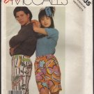 Unisex Shorts elastic waist and pockets McCall's 3035 Sewing Pattern Size XS - XL 1980s