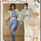 Misses' Cocoon Jacket Top Skirt and Pants McCall's 3376 Sewing Pattern Size 14 16 Bust 36 38 1980s