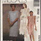 Misses' Semi-Formal Lined Dress or 2 piece dress McCall's 3532 Sewing Pattern Sz 14 Bust 36 1980s