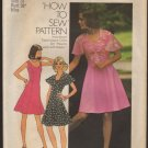 Vintage Misses Princess Seam Dress and Top Simplicity 6798 Sewing Pattern 1970s Size 14 Bust 36