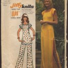 Vintage Pants, Tunic Top, Tunic style Dress Simplicity 5667 Sewing Pattern Jiffy Knits Bust 38 1970s